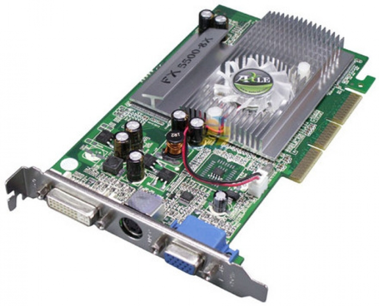 Placa de Video VGA Nvidia FX5500 256 MB